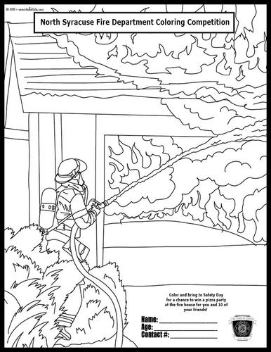 safety town coloring pages - photo #32